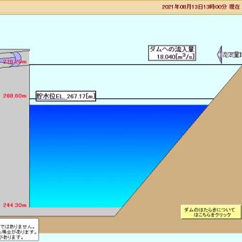 【現地報告】五ケ山ダム貯水率11%~試験湛水完了から7ヶ月 (8月13日更新)