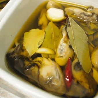 牡蠣と餃子。