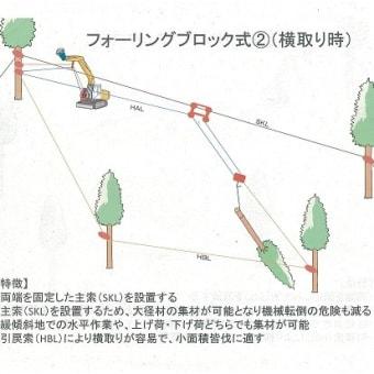 高性能林業機械による搬出実習(集材編)