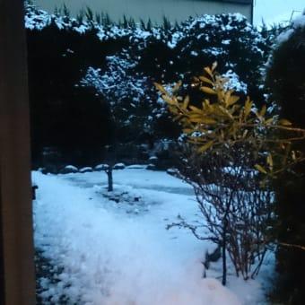 御宿は雪が積もりましたが、あすには溶けそうです。