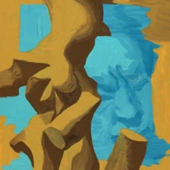 「サロン」展示12(アクリル画)