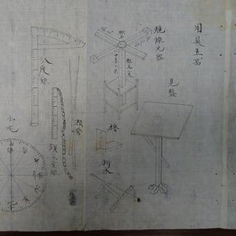 赤松小三郎所有の測量器具一式