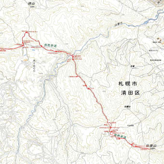 白旗山西岡コースのGPSトラック