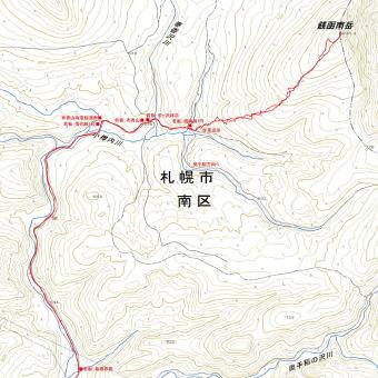 銭函南岳のGPSトラック