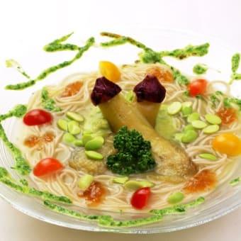 6月の月替わり蕎麦『ずんだの冷製スープ仕立て』 〜夏野菜を添えて〜|じねんじょ 蕎麦 箱根 九十九