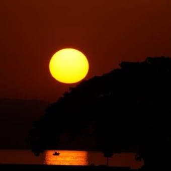 海浦の夕景 昨日の続き