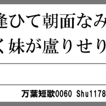 万葉短歌0060 宵に逢ひて0045