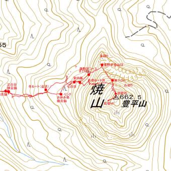 豊平山(焼山)簾舞コースのGPSトラック