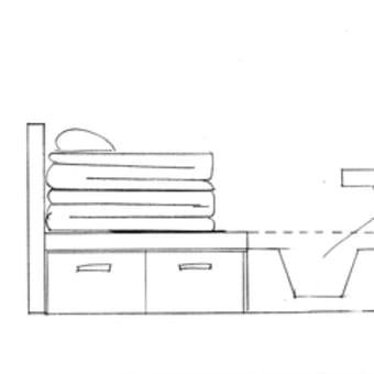 ベッド・テーブル・2WAY