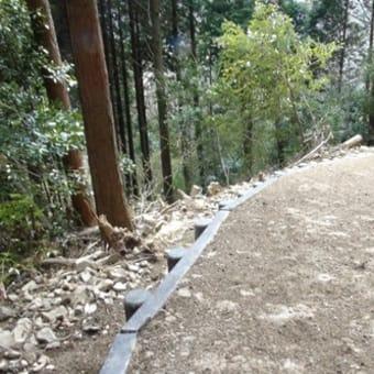山道の冬季施工