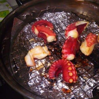 おうちでビール「甘塩サケ&タコ刺しの燻製」
