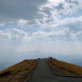 阿蘇の大観峰で「世界一のカルデラを堪能。」