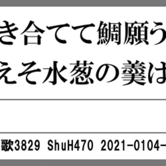 万葉短歌3829 醤酢に3564