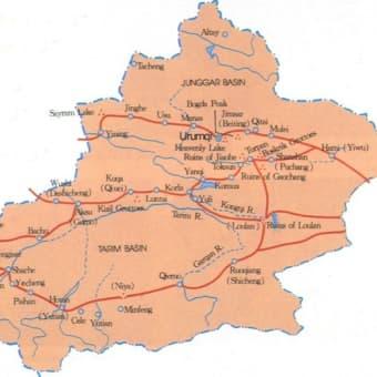 地図(ウイグル)
