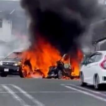 2児残された駐車中の車から出火、1歳男児重体 福岡・久留米