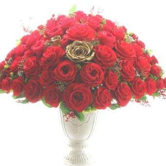 ♪真赤な薔薇とアモローサ・ゴールドローズ♪