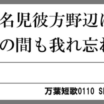 万葉短歌0110 大名児0094