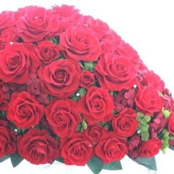 ♪真赤な薔薇の四方見アレンジ♪