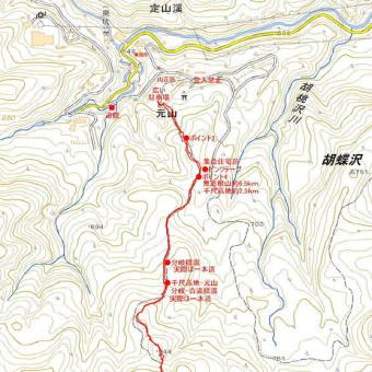 無意根山元山コースのGPSトラック