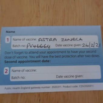 ワクチン接種に行ってきました。