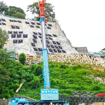 丸亀城石垣復旧の現状