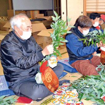 山口八幡神社  総代が縁起物「福笹」作り  9日からの「えびす祭」に備える 〈2021年1月9日〉