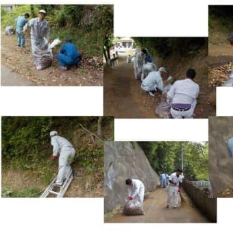 久山田の水源池清掃活動に参加しました。