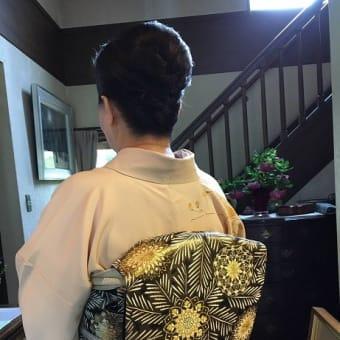 31.5.⒚出張着付は藤井寺市、お茶会に行かれる訪問着の着付依頼でした