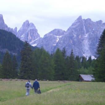 ドロミティ山脈 ③  山はお天気次第