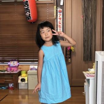 孫娘のために・・・ばぁーの力作ドレス