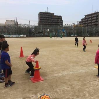 足立区の中川東小学校でリングビー教室!