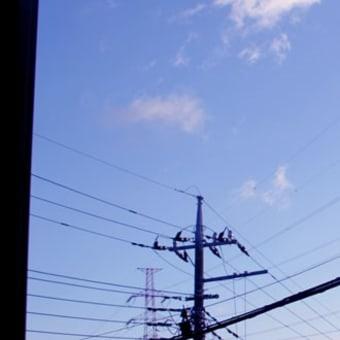 早朝の空、きれいでした。