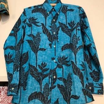 KIHOLO KAI    長袖アロハ  made in  Hawaii  ♪♪
