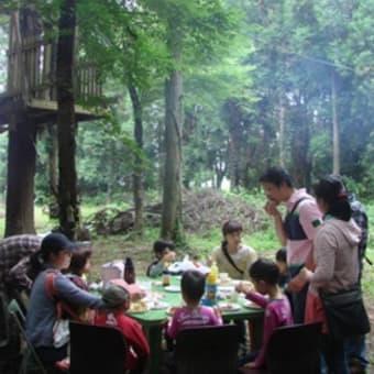 2012年「カブトムシ採集と森のバーベキュー」報告