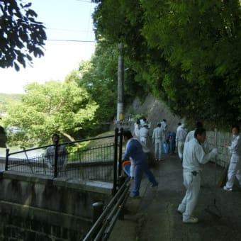 久山田水源池の清掃活動