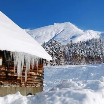 冬の十勝岳 白銀荘にて