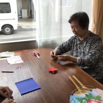 うちわ作り((´∀`*))