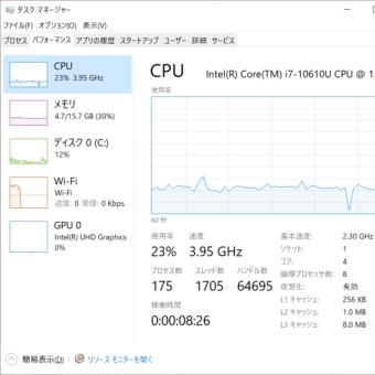 WindowsでCPUコアとスレッドの数を簡単に確認するショートカット