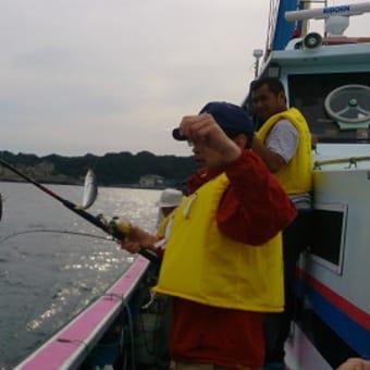 アジの釣り船初体験です。