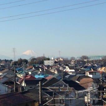 富士山が見えます。