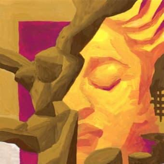 「サロン」展示16(アクリル画)