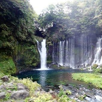 雨でしたが白糸ノ滝へ