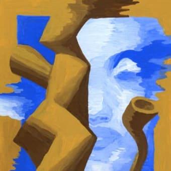 「サロン」展示13(アクリル画)