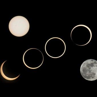 会社で金環日食を見ました ♪