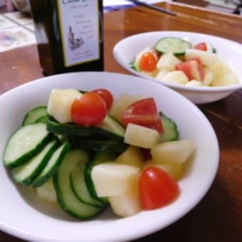 ほぐさないソウメン瓜のサラダ