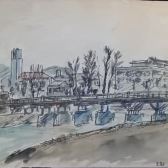 セピア色の画集(第11話);昔々のスケッチ;65年前の京都荒神橋