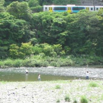 アユ釣り 久慈川