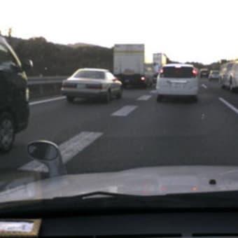 都田からの帰りに渋滞に巻き込まれる。