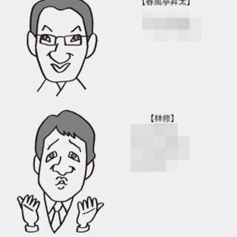 はじめての似顔絵教室サンプル(春風亭昇太、林修)