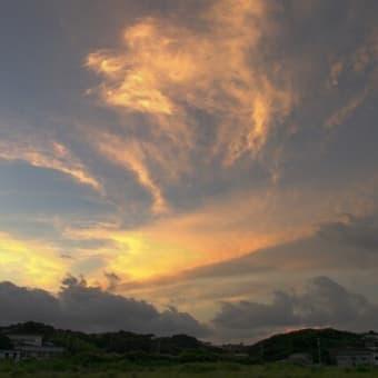 黄金の雲が舞う